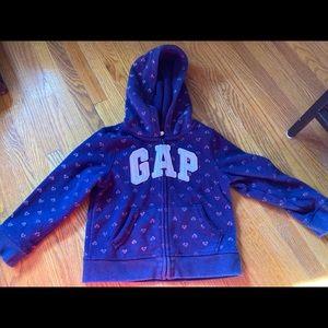 Heart zip up Gap hoodie